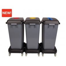 60 Litre Office Recycling Bins (Full Kit)