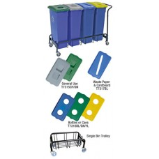 Bins, Lids & Trolley For Recycling
