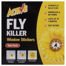Active Fly Killer Window Stickers