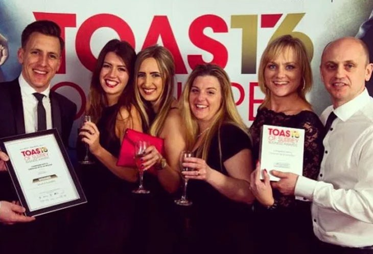 Toast of Surrey Business Awards Winner for Businesses up to £5m.